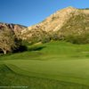 A view of green with mountain in background at Mount Ogden Golf Course (Brian Oar/Utah Golf Guide)
