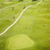 Aerial view of green #9 at Cattail Creek Golf Course