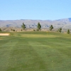 A view of the 1st green at Sun River Golf Club