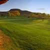 A sunny view of fairway #2 at Dixie Red Hills Golf Course
