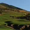 A look uphill from green #6 to tee at Galena Ridge from Silver Mountain Resort