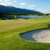A view of the 4th green at Teton Pines Country Club & Resort