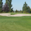 A view of the 4th green at Larchmont Golf Course