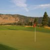 A view of a green at Canyon River Golf Club