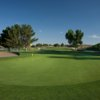 A view of green #4 with a sand trap on the left at Picacho Hills Country Club