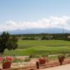 A view of a tee at Marty Sanchez Links de Santa Fe