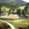 A view of a green protected by sand traps at Wasatch Mountain State Park