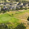Aerial view of the 16th green at South Mountain Golf Club