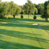 A view of the 2nd green at Plantation Golf Club