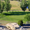 A view of a green at Pryor Creek Golf Club