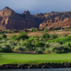 A view of a green with water coming into play from Entrada at Snow Canyon