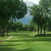 A view from a tee at Prairie Farms Golf Course