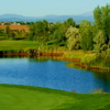 View of a green and pond at Thorncreek Golf Club