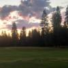 A view from a tee at Trestle Creek Golf Course