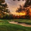Sunset view of a green at The Country Club at Woodmoor