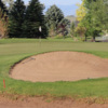 Green with bunkers at Riverton Country Club