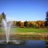 A fall day view of a hole at Saratoga Hot Springs Resort - Saratoga Public Golf Course