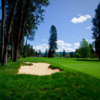 A view of a fairway at Hayden Lake Country Club.