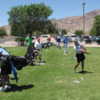 A view of the practice area at New Mexico Tech Golf Course.