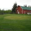 A view of a green from Yellowstone Golf Resort at Aspen Acres RV Park.