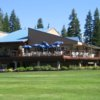 A view of the clubhouse at McCall Golf Course.