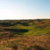 A view of the 8th green at Ballyneal Golf & Hunt Club.
